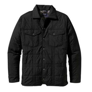 Patagonia Black Freebox Quilted Button Snap Jacket